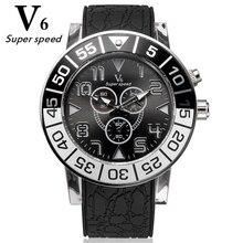 V6 Bela mulher relógios de marca de silicone relógio pulseira de quartzo moda casual grande mostrador do relógio estudante presente luminosa relógios de cores