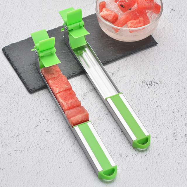 Watermelon Slicer Cutter Tongs Corer Fruit Melon Stainless Steel Tools NEW Watermelon Cut Refreshing Watermelon Cubes Kitchen 5