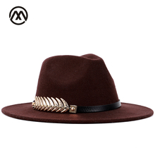 Classic fedora feather accessories autumn and winter warm vintage hats  men s caps jazz bowler hat with faad8857da67