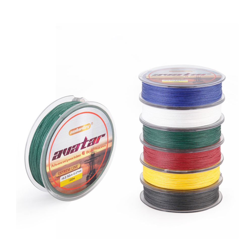 цена на SOLOPLAY Superpower 100m 6LB - 80LB Braided Fishing Line PE Strong Multifilament 4 Strands Carp Fishing Sea Fishing Line