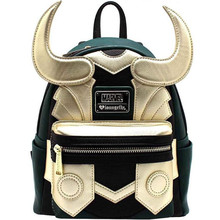 Hot New Marvel Movie The Avengers Loki Backpack Fashion Classic Green Golden Fighting Form Fancy Shoulder Bag Gift