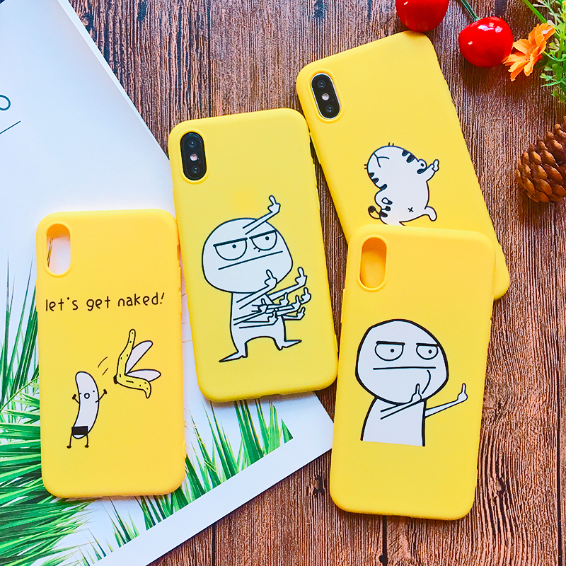 Funny Cartoon Giraffe Phone Case For iPhone 7 8 Plus TPU Silicone Back Cover for iPhone X XR XS Max 6 6S Plus 5 5S SE Soft Case (10)