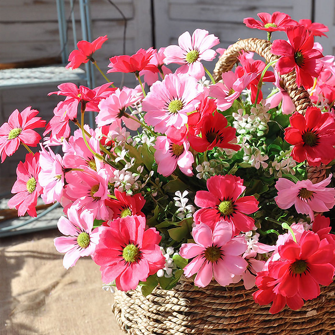 1Bouquet Artifical Cherry Daisy Flower Wedding Office Home Party ...