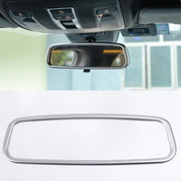 Silver ABS Chrome Interior Mirror Decorative Frame Trim For Mercedes Benz CLA 200 260 2015 2017 Car Accessories