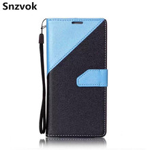Snzvok Flip Cover Phone Case For Samsung Galaxy S6 S7 edge S5 Color Stitching Leather Back Cover Case For Samsung A3 A5 J3 J5 J7