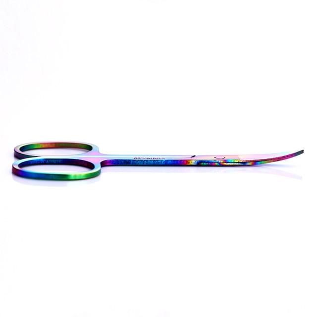 1 Pc Chameleon Stainless Steel Eyebrow Scissor Facial Hair Remover Sharp Head Beauty Makeup Tool 2