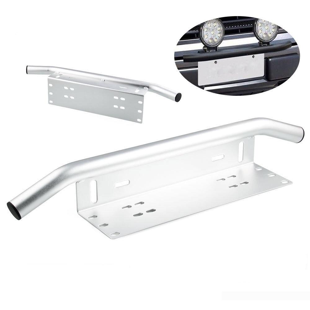 Support de montage de barre de lumière LED support de fixation de cadre de plaque d'immatriculation avant pour feux tout-terrain LED lampes de travail barre d'éclairage