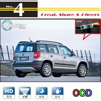 LiisleeFor Skoda Yeti 5D SUV 2010~2014 Car Camera High Quality Rear View Back Up Camera For PAL Or NTSC / CCD + RCA