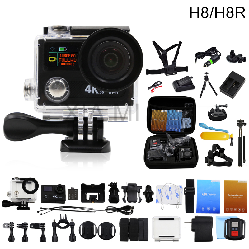 Original Action Camera EKEN H8/H8R VR360 Ultra 4K/30fps WiFi Dual LCD Remote Controller Mini Cam Go Waterproof Pro Sports Camera