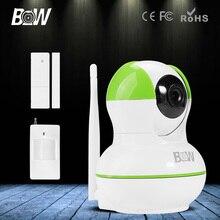 Bw ip cámara + door & motion sensor p2p hd 720 p Filtro de Corte IR de Interior CCTV Onvif Megapíxeles Lente de Visión Nocturna de Vídeo vigilancia