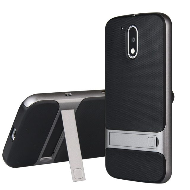 For Motorola Moto G4 Case 5.5 inch TPU + PC 2 in 1 Phone Cases Ultra Thin Phone Stand Cove For Motorola Moto G4 Plus Case