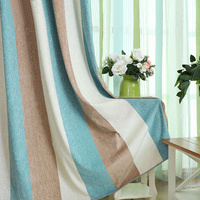 Chenille Striped Blinds Curtains for Bedroom Modern Children's Curtains for Living Room Drapes Window Curtain Custom Made 1PC
