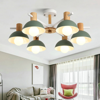Modern LED Macaron Wooden ceiling lights loft fixtures Japanese ceiling lamps bedroom illumination living room Ceiling lighting