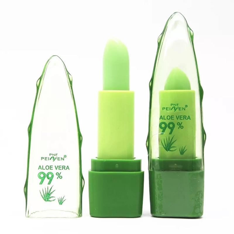 1PC New Moisture Melt Lip Balm Aloe Vera Lipstick Color Mood Changing Long Lasting Moisturizing Lipstick Makeup Lip Care Beauty in Lip Balm from Beauty Health