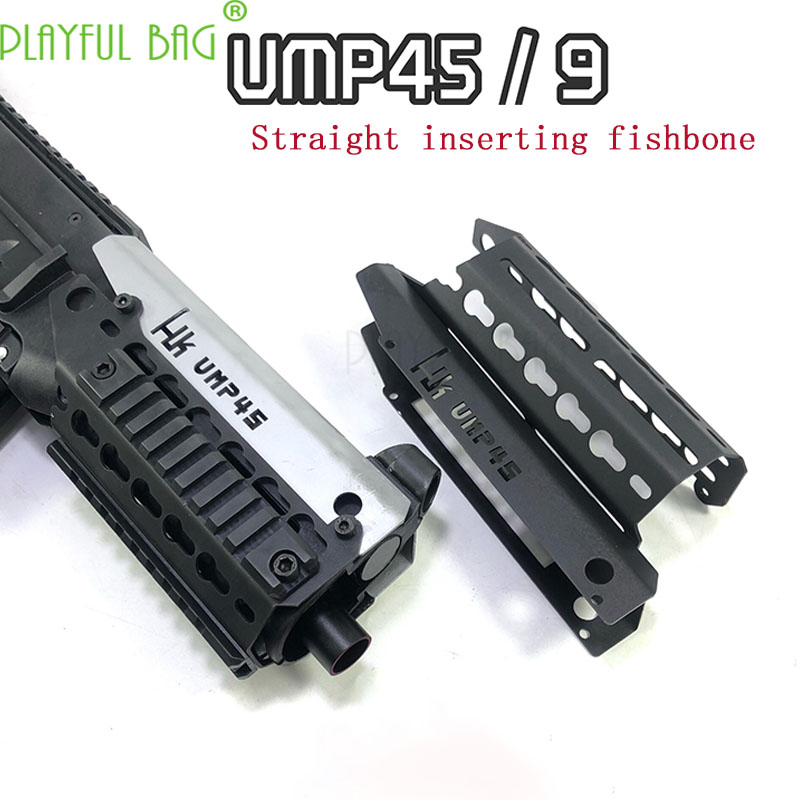 Outdoor[UMP45 Upgrade Material Fish Bone] 21 Mm UMP9 Fishbone KEY Guide Rail Water Bomb Toy Modified Decorative Accessories OJ01