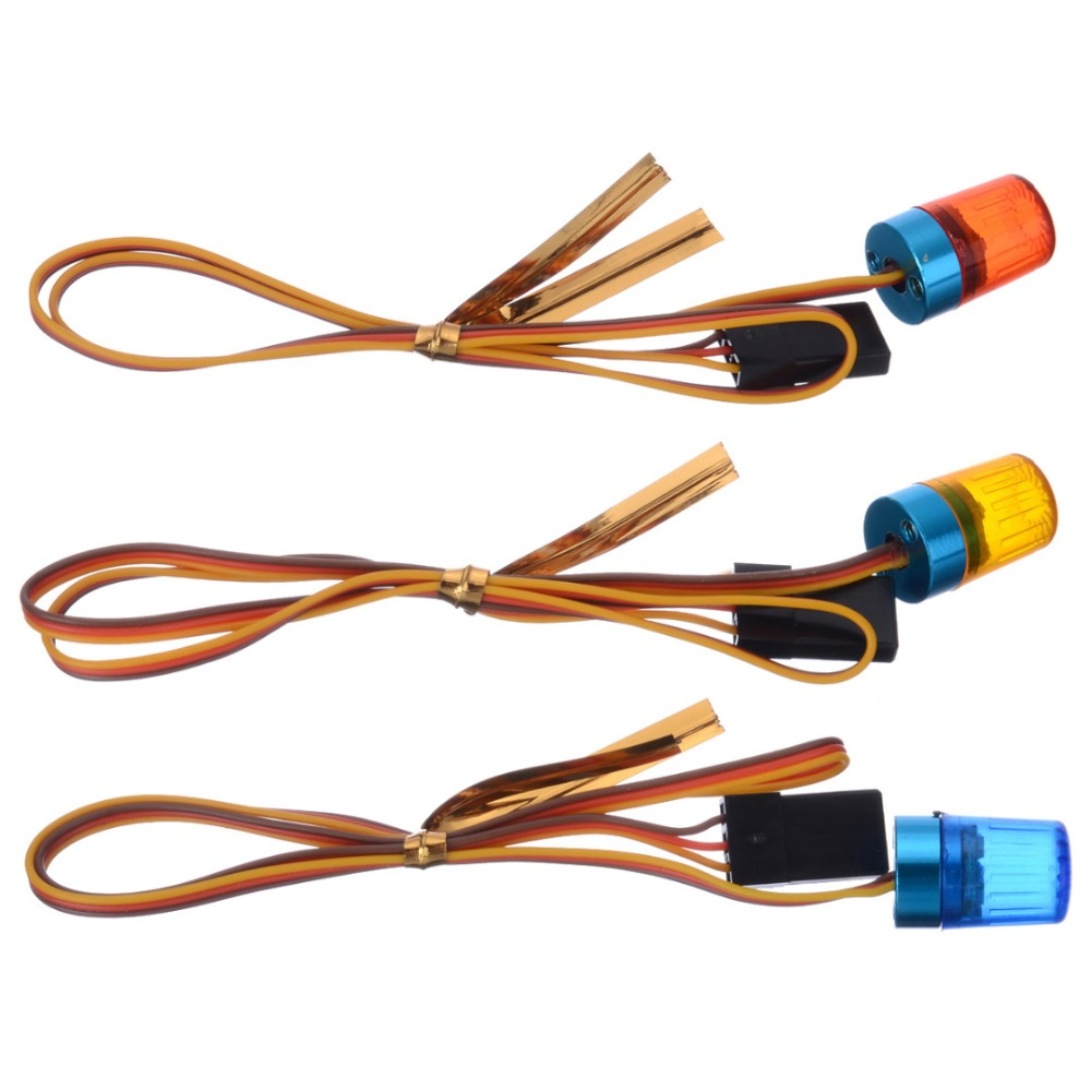 4V-6V Ultra Bright Blue Orange Red LED Strobing-blasting Flashing Light Rotating LED Light For RC Model Car