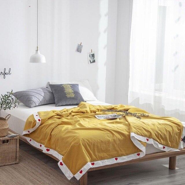 Nuevo 2019 edredón de algodón lavado con agua de verano ropa de cama para adultos 200x230 cm edredón de tamaño queen de una pieza envío gratis