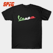 Vespa T Shirt Men Italy Scooter Motorcycle Brand Short Sleeve Classic Letter T-Shirt Youth Tee Shirt Plus Size 90s Hip Hop Logo