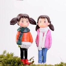 Mini Garden Miniatures Fairy Garden Ornament Decoration Resin Bonsai Terrarium Figurines Flower Angels Garden Home Toys Gifts