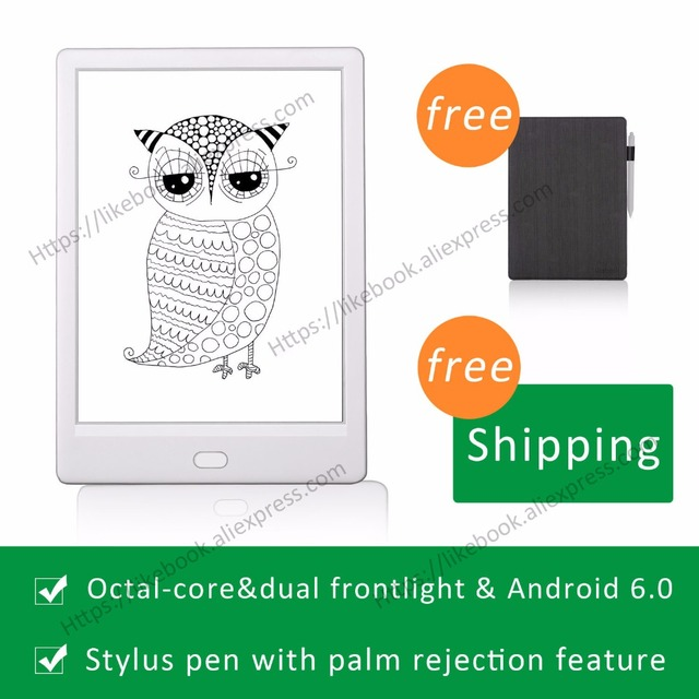 2019 New Arrival Ebook Reader 7.8 inch likebook Muses Android 6. 0 frontlight Octa lõi 2 GB RAM với dạng chữ viết tay tính năng