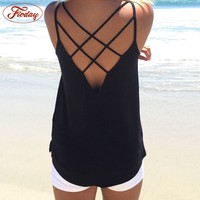 Sexy Women S Tops Tees Black Color Hollow Out Fashion Tank Tops Ladies Summer Wear