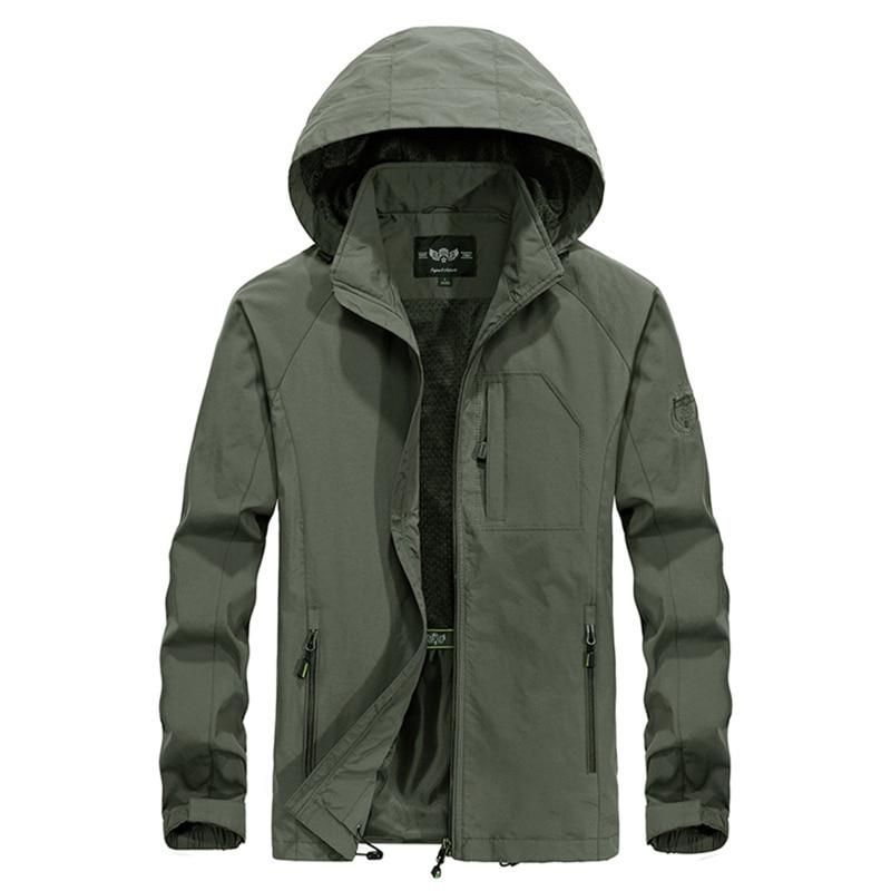 M-5XL Softshell militaire tactique vestes hommes imperméable coupe-vent Camouflage mince manteau à capuche solide armée vert vêtements WU104
