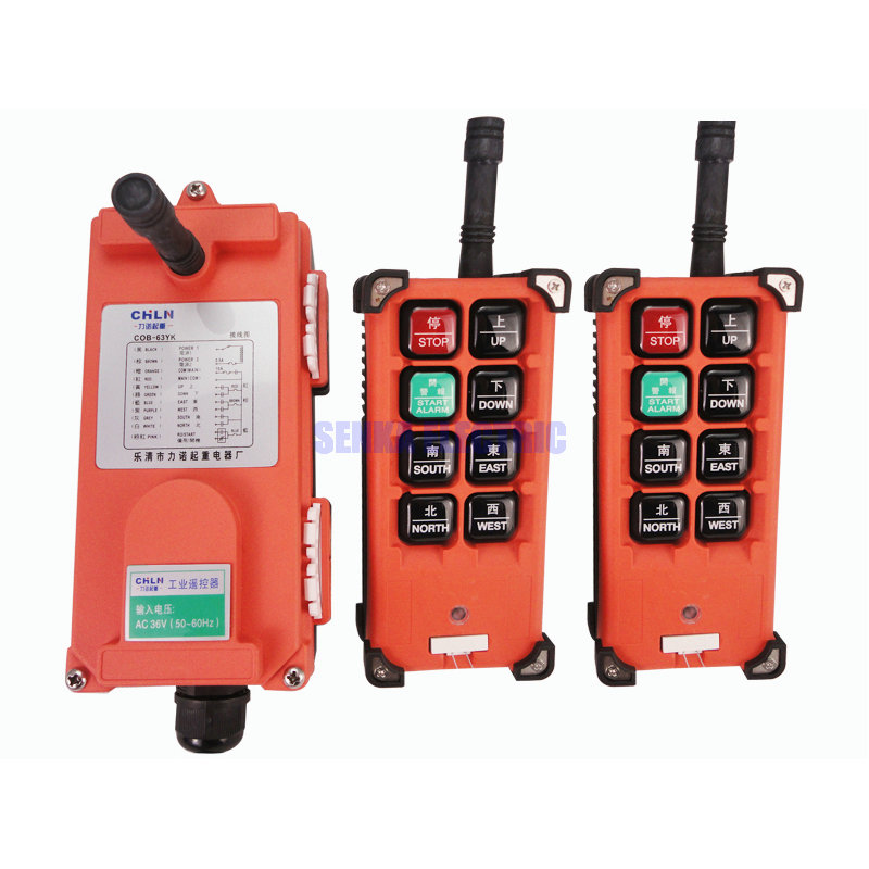 2 Transmitter and 1 Receiver Radio Crane Hoist Industrial Wireless Remote Control COB-63YK nice uting ce fcc industrial wireless radio double speed f21 4d remote control 1 transmitter 1 receiver for crane