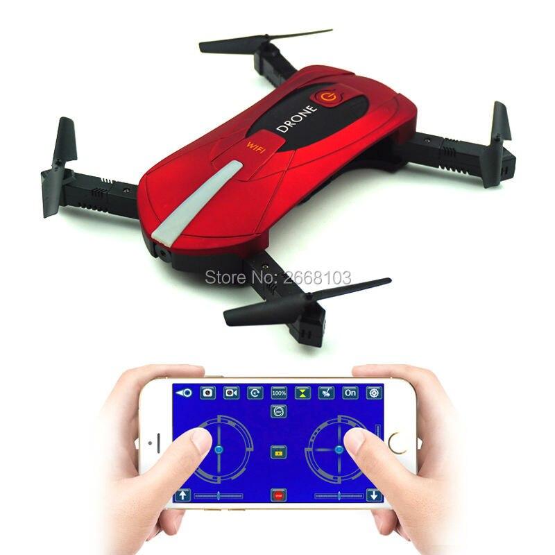 JY018 Mini Selfie portatile Tasca Elicottero Drone Pieghevole Pieghevole Mantenimento di Quota Headless WIFI Macchina Fotografica FPV RC Quadcopter VS H31
