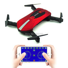 Portable JY018 Mini Selfie Drone Foldable Helicopter Pocket Folding Altitude Hold Headless WIFI FPV Camera RC Quadcopter VS H31(China)