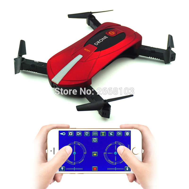 Bærbar JY018 Mini Selfie Drone Sammenfoldelig Helikopter Pocket Folding Højde Hold Hovedløse WIFI FPV Camera RC Quadcopter VS H31