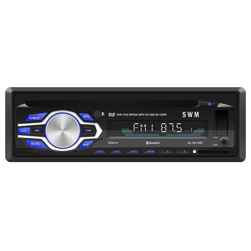 1 autoradio Audio voiture Din 60WX4 autoradio Bluetooth USB MP3 MMC WMA autoradio lecteur Mp3 12 V In-dash récepteur d'entrée FM AUX