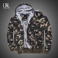 Winter Camouflage Hoodies Mens Inner Fleece New Military Tracksuits Warm Thicken Hooded Sweatshirts Hoodies Velvet Bomber Jacket