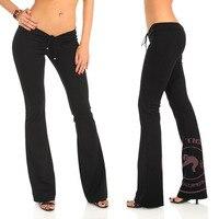 Plus Size Drawstring Crotch Low Waist Flare Pants Women Gothic Punk Trousers Broeken Woman Sexy Clubwear Spodnie Streetwear Pant