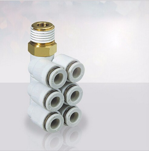 tube size 10mm-1/4 PT thread SMC Style Male Elbow Triple Branch KQ2ZT