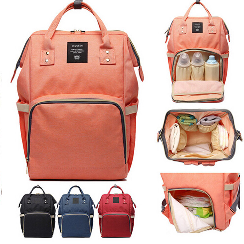 Baby Diaper Bag Mummy Maternity Nappy Bag Hang Stroller Large Capacity Newbron Travel Backpack Handbag Nursing Bag Infant Care