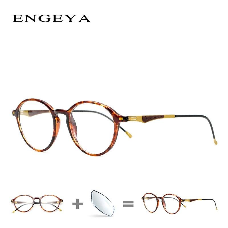 385afa0491 TR90 Prescription Women Spectacles Round Fashion Men Blue Light Optical Eyewear  Frame High Quality 2100