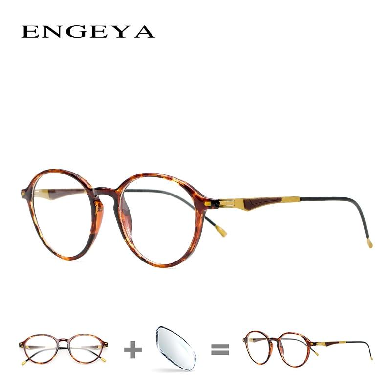 TR90 Prescription Women Spectacles Round Fashion Men Blue Light Optical Eyewear Frame High Quality#2100