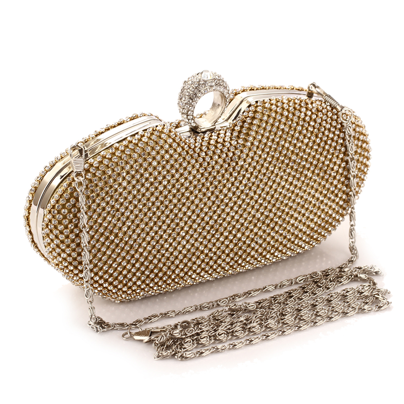 Clutches-Bags Holding-Dinner-Bag Rhinestone Star Banquet-Diamonds American-Style Female