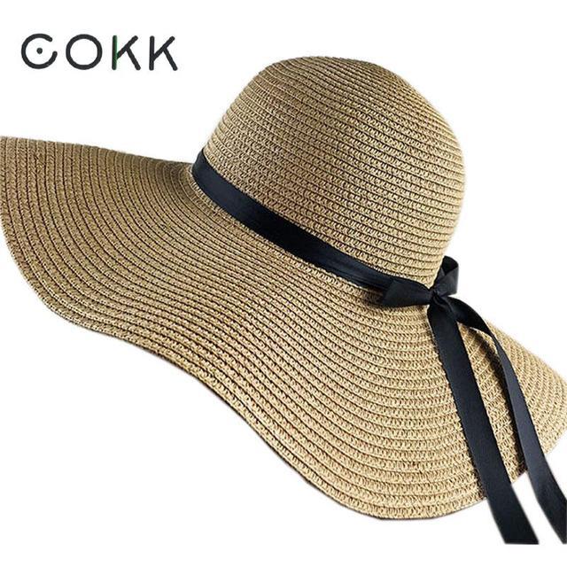 cokk d 39 t chapeaux pour les femmes chapeau femme chapeau de soleil plage panama chapeau de. Black Bedroom Furniture Sets. Home Design Ideas
