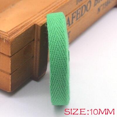 Новые цветные 10 мм шеврон хлопок ленты тесьма сельдь bonebinding ленты кружева обрезки для упаковки аксессуары DIY - Цвет: green 204