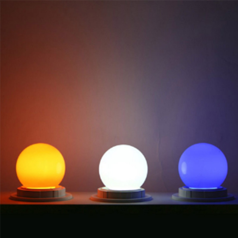 Coloured E27 0.5W Energy Saving 6 LED Light Bulbs Globe Lamp DIY 5 color Bright