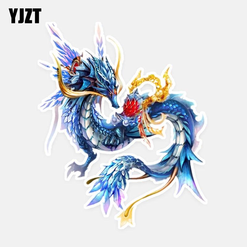 YJZT 12.2CM*15CM Personalized Animal Dragon PVC Car Sticker Decal 5-1083