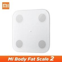 Xiao mi mi skład ciała skala 2 mi Fit App Smart mi waga do pomiaru tkanki tłuszczowej 2 2019 nowość