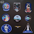 (DzIxY) 1 PCS UFO Astronaut Planet parches Embroidered Iron on Patches for Clothing DIY Stripes Badges