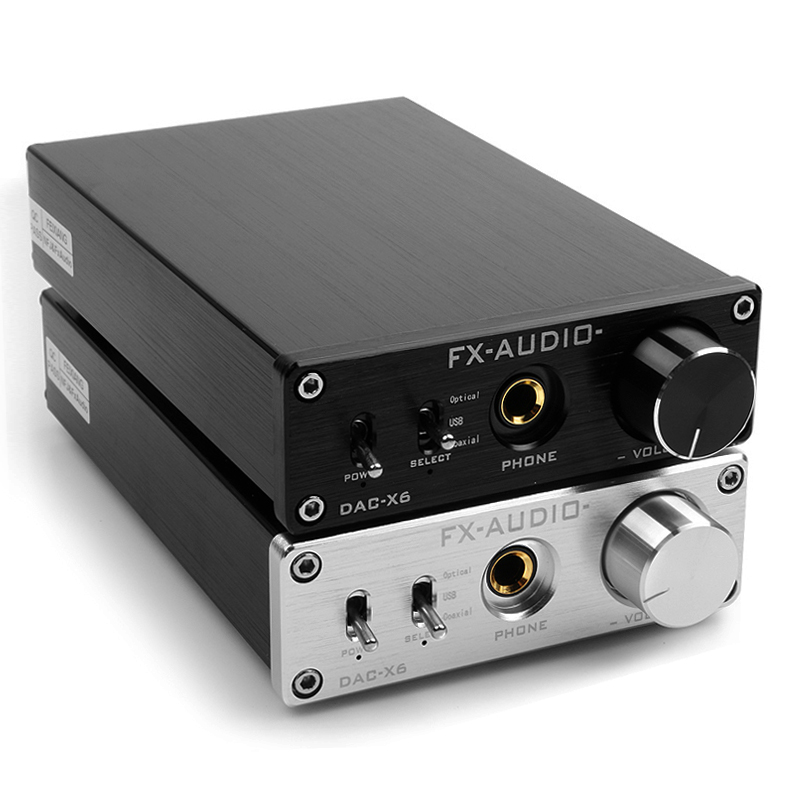 Fx-audio 2.0 DAC-X6 fever HiFi amp USB Fiber Coaxial Digital Audio Decoder DAC 16BIT / 192 amplifier TPA6120 Free shipping hifi amp usb 24bit 192khz fiber coaxial headphone audio amplifier dac decoder silver dac x6 usa stock