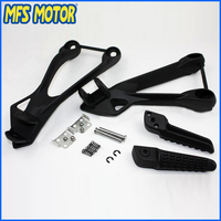 Freeshipping Motorcycle Parts Rear Passenger Foot Peg Bracket Fit For Kawasaki ZX6R 2005 2006 2007 2008