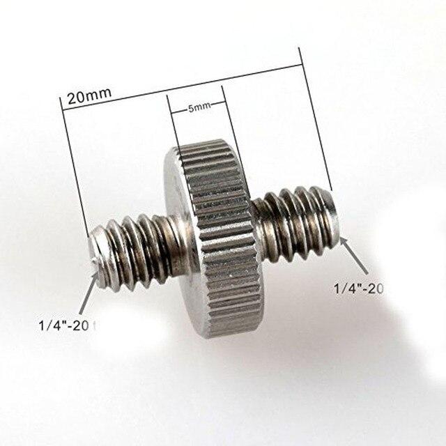 Kaliou 1 sztuk płyta szybkiego montażu 1/4  1/4 śruba precyzja śruba do statyw kamery Photo Studio akcesoria