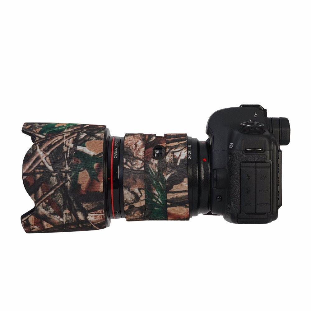 Camera Lens Camouflage cover guns clothing protective Cases Waterproof Hiding Shooting Skin Camo For Canon 24-70mm F2.8L