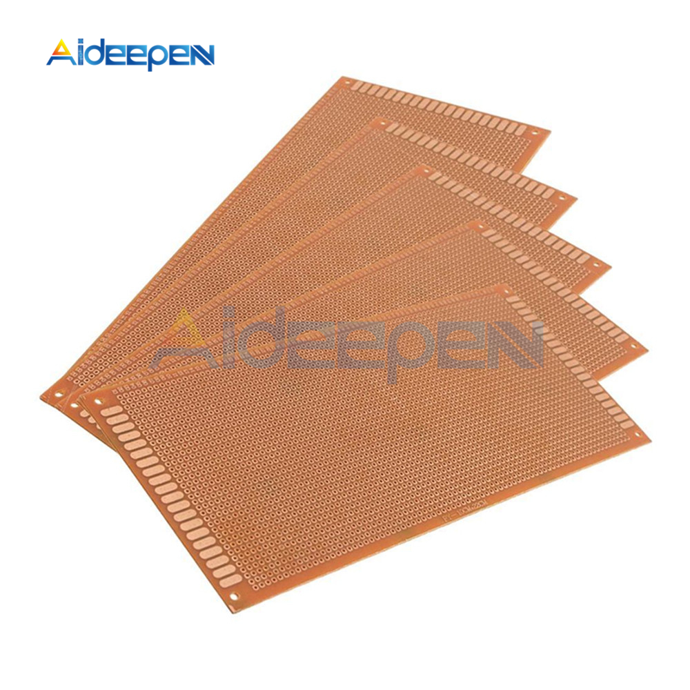 5pcs 150x150mm Bakelite PCB Printed Circuit Board with 1.5mm Thick Single Sided Copper Coating DIY Prototype PCB Board