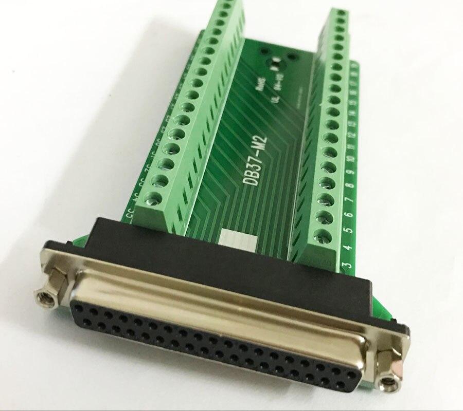 5pcs lot 37 Pins Female Male DB37 D SUB DB 37 Adapter Terminal PCB Breakout Board
